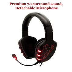 Ozone Gaming Gear Black Rage 7HX 7.1 Surround Sound USB Headset