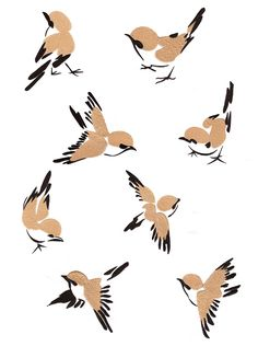 Chinese Style Birds Large | Stitchboxcreations.com Available in 3 sizes Chinese Painting, Chinese Art, Chinese Style, Chinese Brush, Cool Art Drawings, Bird Drawings, Painting & Drawing, Watercolor Paintings, Art Challenge