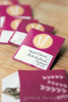 Free Printable Seed Envelopes for Valentines Day  - so much better for you than chocolate! bHome.us