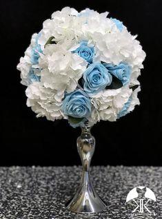 elegant first birthday Flower Ball Centerpiece, Crown Centerpiece, Blue Centerpieces, Wedding Centerpieces, Mickey Centerpiece, Dusty Rose Wedding, Purple Wedding, Lime Wedding, Ivory Wedding