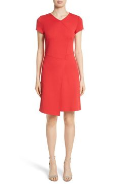 Main Image - St. John Collection Flap Front Milano Knit Dress Online Shopping Stores, Nordstrom Dresses, Wrap Style, Knit Dress, Dresses Online, High Neck Dress, Dresses For Work, Knitting, Clothes