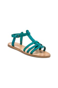 n.d.c  Josephine Leather Sandal in Turquoise