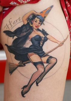 16 Bewitching Witch Tattoos