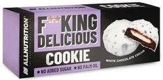 Allnutrition F**king delicious cookie white chocolate cream 128g Cocoa Cookies, Yummy Cookies, Whey Powder, Rapeseed Oil, Cookie Do, Sodium Bicarbonate, Chocolate Cream, Sponge Cake, Palm Oil