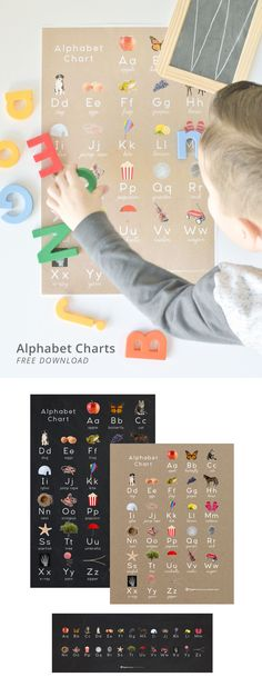 A gift for you! Download our lovely alphabet charts, FREE!