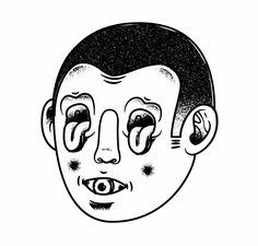 Creative Illustration, Crazy, Face, Sergi, and Delgado image ideas & inspiration on Designspiration Dark Art Drawings, Drawing Sketches, Wtf Face, Scary Art, Tattoo Flash Art, Vintage Cartoon, Doodle Art, Art Inspo, Illustration Art