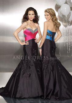 Mermaid Sweetheart Natural Waist Taffeta Floor Length Sleeveless Evening/ Prom Dress