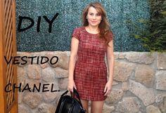 Vestido tipo chanel diy. Patrón del vestido en tienda.patronesmujer.com