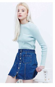 Skinny rib top to wear with mini skirts, £35 Urban Outfitters