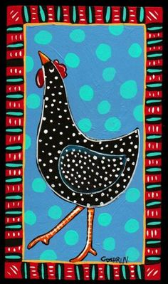 Rooster Painting, Rooster Art, Tole Painting, Folk Art Paintings, Chicken Painting, Chicken Art, Farm Art, Cow Art, Mexican Folk Art
