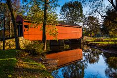 Loy's Station Covered Bridge in rural by JonBilousPhotography