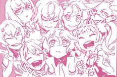 Katsuhira, Noriko, Niko, Hisomu, Tenga, Honoka, Yuta & Chidori