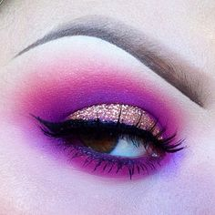 Bold, red and purple eyeshadow #vibrant #bright #bold #eye #makeup #eyes
