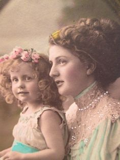 Real Photo Postcard Mother and Child Woman by TableauBotanique, $15.00
