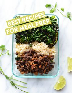 Get inspired with these healthy meal prep recipes including breakfast, lunch, dinner, snacks, and desserts!