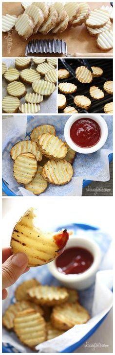 Grilled Potatoes... I found this very helpful as it gives different variations and methods for grilling on charcoal and gas grills.