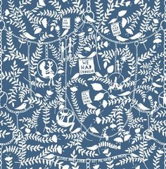 We Had Everything (RRMM02IN) - Mini Moderns Wallpapers - Following the success of their first collaboration, this whimsical wallpaper features Rob Ryan's paper cut imagery design with various motifs linked by delicate chains. Shown here in the ink colourway. Other colourways are available. Please request a sample for a true colour match.
