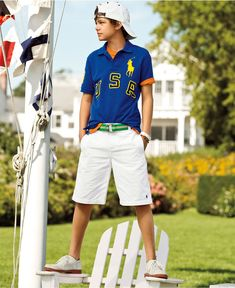 Ralph Lauren Kids Separates, Boys USA Polo and Shorts - Kids Boys 8-20