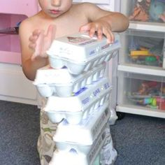 So easy and lots of fun. Collect the boxes over the weeks and you have an easy toy to play with.