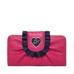 I love the Betsey Johnson Pink Enamel Ruffle from LittleBlackBag