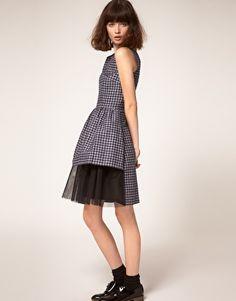 Peter Jensen Dress with Tulle Skirt