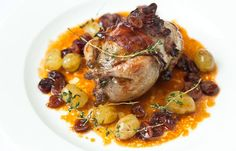 Roast Quail Recipe With Herb Butter - Great British Chefs Best Christmas Dinner Recipes, Recipes Dinner, Roasted Quail, Great British Chefs, Chicken Livers, Herb Butter, Cooking Recipes, Game Recipes, Bacon Recipes