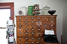 vintage card catalog for little cute things!