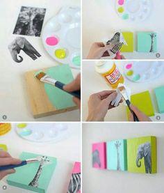 Cómo hacer cuadros decorativos para tu casa - Púrpura