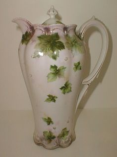 RS Prussia porcelain chocolate pot