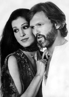 Rita Coolidge and Kris Kristofferson during photo session with with photographer Francisco Scavullo
