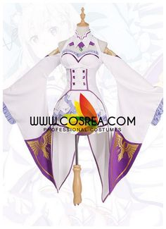 Re Zero Emilia Cosplay Costume Cosplay Diy, Anime Cosplay, Cosplay Ideas, Cosplay Costumes, Emilia Cosplay, Professional Costumes, Re Zero, Aurora Sleeping Beauty, Kawaii