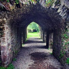 A medieval tunnel..... Bridgetown Priory, Co Cork