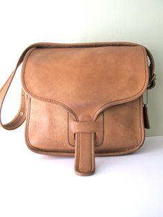 COACH Saddle Bag RARE  // 70s Bonnie Cashin Courier Messenger Bag