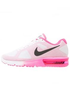 Nike Performance - AIR MAX SEQUENT - Neutral running shoes - white/black/pink blast