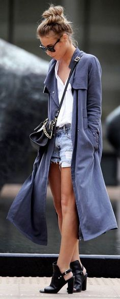 #bestof #instagram #turninghead #spring #outfitideas |Blue Long Duster + Basics | Happily Grey