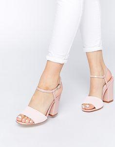 Faith+Lavender+Pink+Pearlised+Heeled+Sandals