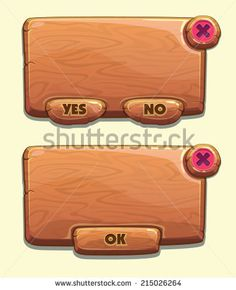 stock-vector-wooden-cartoon-panels-for-game-ui-including-yes-no-and-ok-buttons-215026264.jpg 382×470 pixels