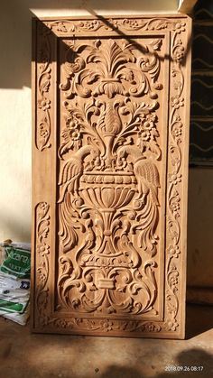 Carved Wood Door Design 61 Ideas For 2019 Front Door Design Wood, Home Door Design, Door Gate Design, Wooden Door Design, Wooden Doors, Wood Design, Glass Design, Wood Carving Designs, Exterior Front Doors