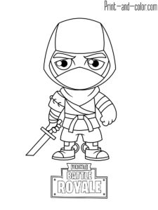 Fortnite Battle Royale Coloring Page Lama Kidspages