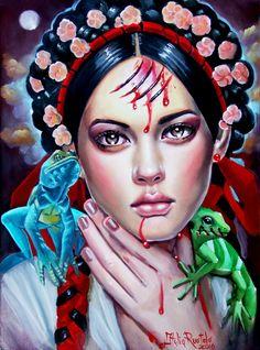 """La Diablera"" by Italia-Ruotolo-Art #contemporary #painting"