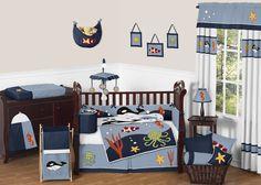 Ocean Blue 9 Piece Crib Bedding Set