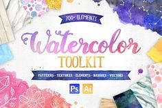 Ad: The new Watercolor Toolkit bundle by Avenie Digital is a collection of over 700 watercolor graphics and textures. Along with classic watercolor washes, the set includes watercolor marble, gold watercolor, watercolor wood, and watercolor space textures. The graphics include boho tribal feathers, diamonds and crystals, antlers, constellations, wedding graphics, and much more! $25