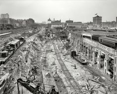 Grand Central Excavation: 1908 photo