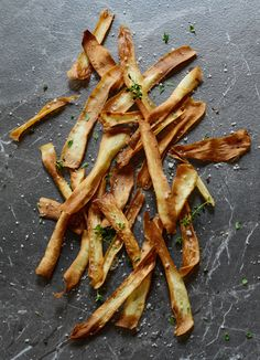 parsnip crisps with sea salt and fresh thyme i know i know parsnips ...