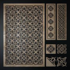 3d model decorative laser cutting pattern