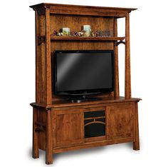 Amish Made Wooden Entertainment Center