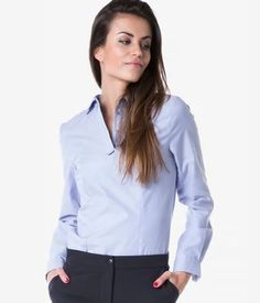 Camasa dama office fara nasturi bleu Buttons, Casual, Tops, Women, Fashion, Moda, Fashion Styles, Fashion Illustrations, Plugs