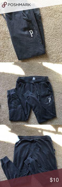 Pink sweatpants Pink grey jogger style sweatpants. PINK Pants Track Pants & Joggers