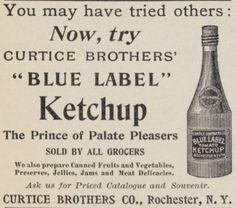 Blue Label Ketchup 1896
