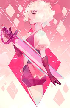 Pink Diamond! :D The top one will be available as a print ^^